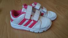 Bielo-ružové tenisky, č.27, max. 17,5cm, adidas,27