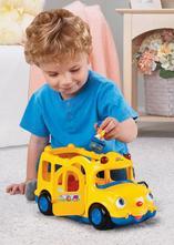 Fisher-price autobus  ružový a žltý ,