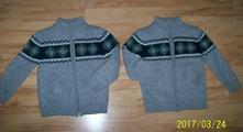 Vyteplené pletené svetríky, 2ks - cena spolu, dopodopo,122