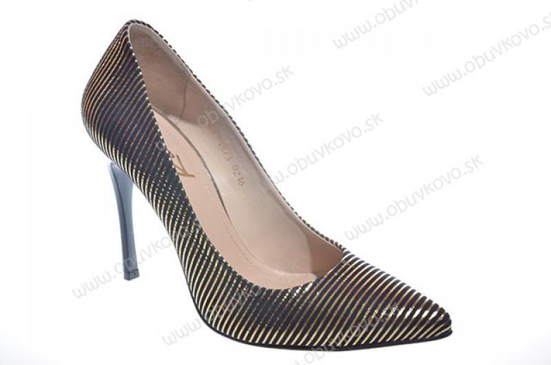 8f4c3459e8979 Kožené dámske lodičky kati 1373 čiernozlaté, 36 - 19,60 € od predávajúcej  obuvkovo | Detský bazár | ModryKonik.sk