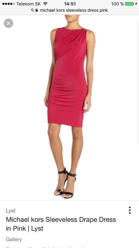 Šaty michael kors s ružové štýlovky originál 2a8369e2e78