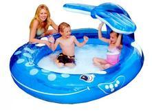 Intex nafukovací detský bazénik veľryba so sprchou,
