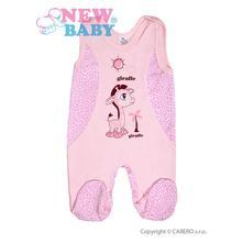 Kojenecké dupačky  giraffe  ružové   veľ. 62   , new baby,62