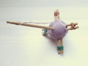 Turecké vretienko vyrobené z čínskych paličiek - návod so našla na internete.