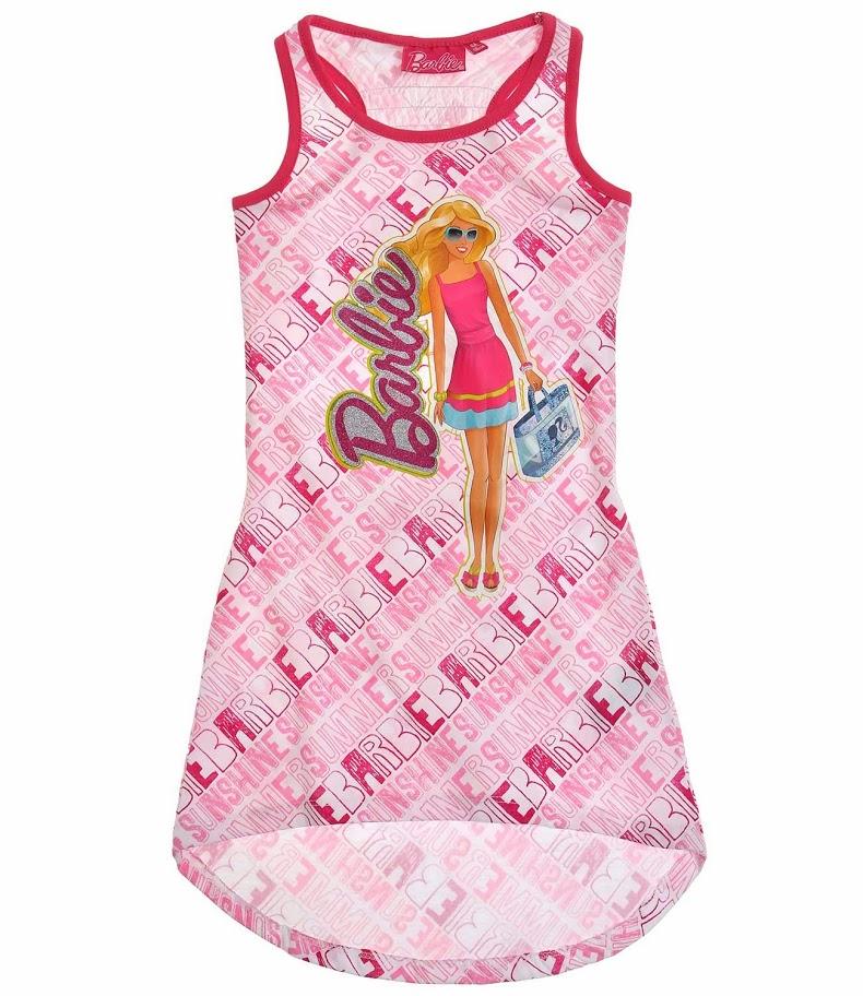 eb539dd15939 Letné dievčenské šaty barbie ružové