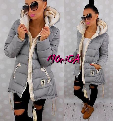 8ccfa60c68eb Dámska zimná asymetrická bunda s kapucňou