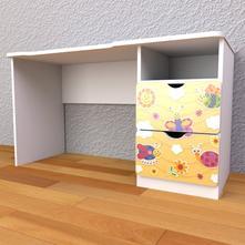 Detský písací stôl so zásuvkami pravý- zvieratkovo,