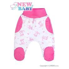 Kojenecké polodupačky zebra - ružové veľ 56  , new baby,56