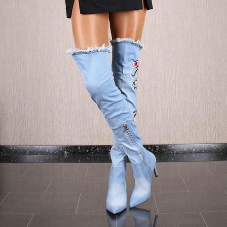 d01312e7dc Riflové čižmy nad kolená asla