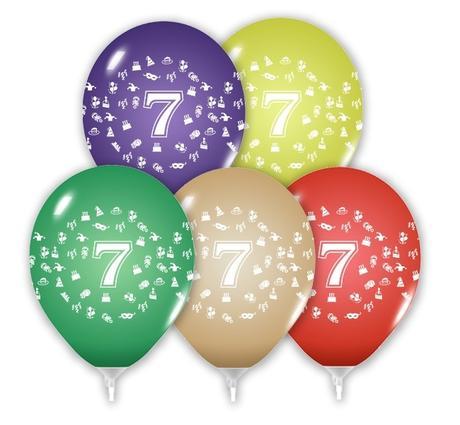 Balón 30 cm s číslom 7,