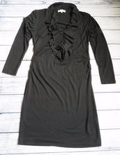 Čierne šaty s dlhým rukávom, l
