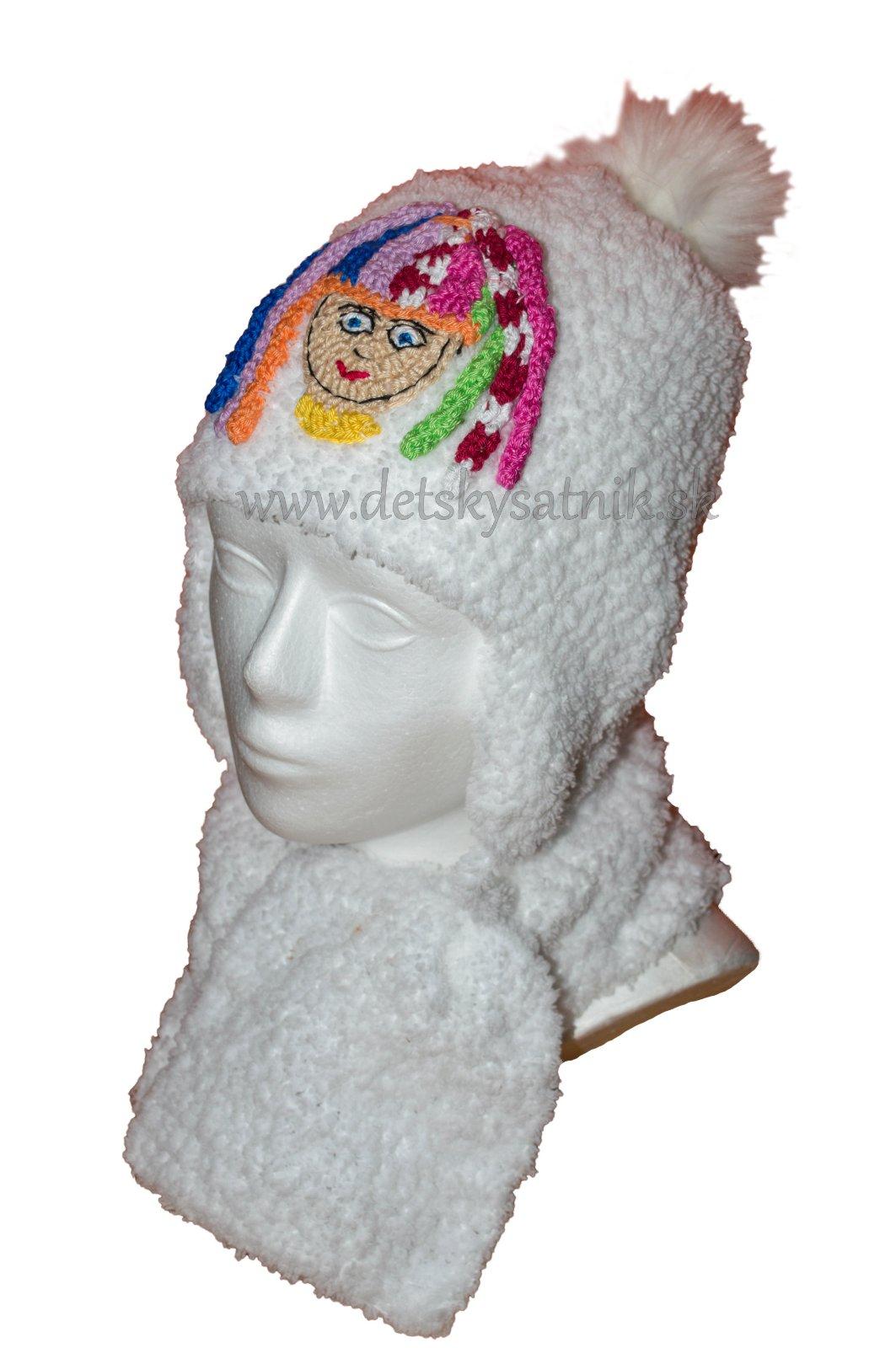 2f0f67e1b Dievčenská huňatá súprava - čiapka a šál, 62 - 158 - 15,90 € od  predávajúcej detskysatnik   Detský bazár   ModryKonik.sk