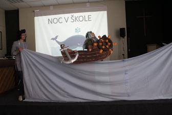 Noc v škole 2019´ pirát PaedDr. Tutoky - Zdroj: stiahnuté jpg z FB evanjelickej školy v PO