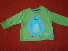 Monster tričko 3-6 m, disney,68