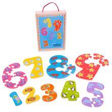 Drevené puzzle čísla 1 - 9, 3+,