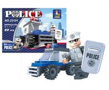 Stavebnica policajné auto 33ks,