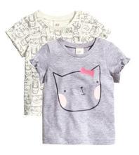92 tričká s mačičkou - 2 ks v balení, h&m,92