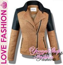 Úžasný dámsky vlnený kabátik , l / m / s