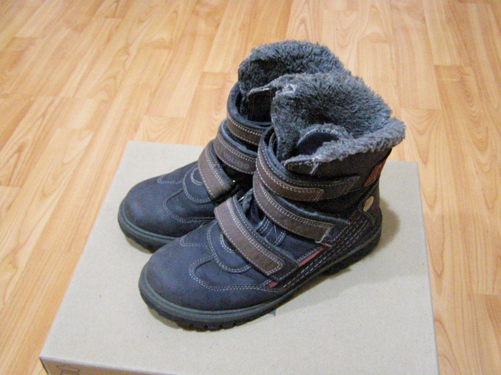 3195384c79 Kožené zimné topánky veľ. 33