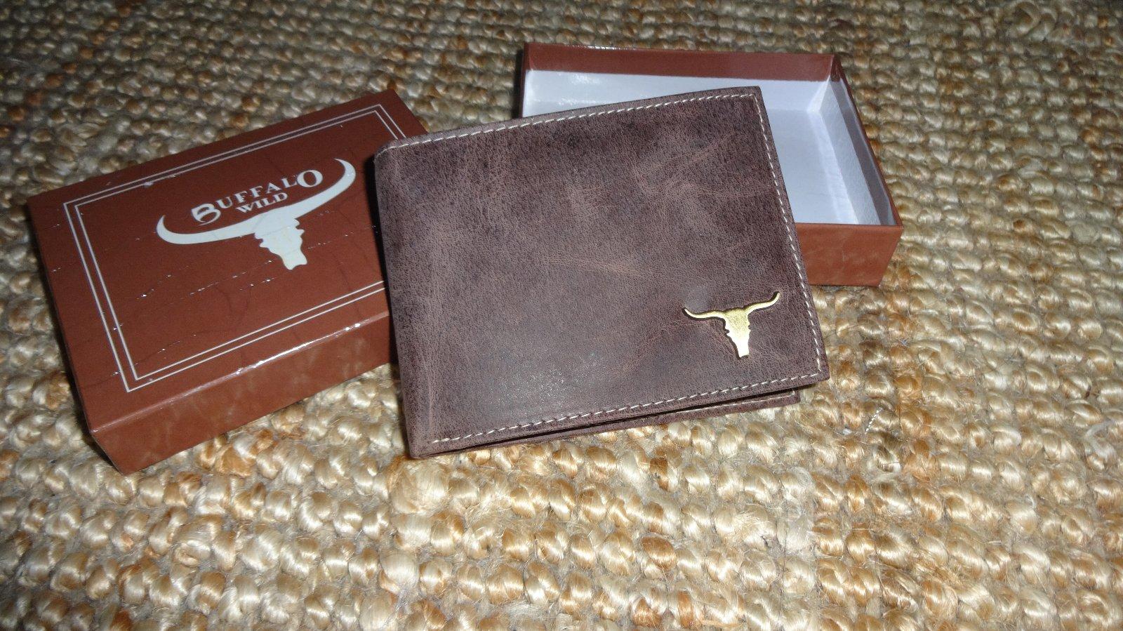 1b896ab58a B67 buffalo kožená hnedá peňaženka