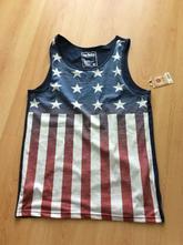 Tielko s americkou vlajkou (tank top), s