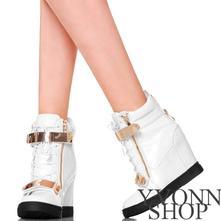 Exkluzívne dámske white sneakers z imitácie hadej , 36 - 41