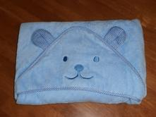 Osuška pre bábätko - macko - modrá     ,