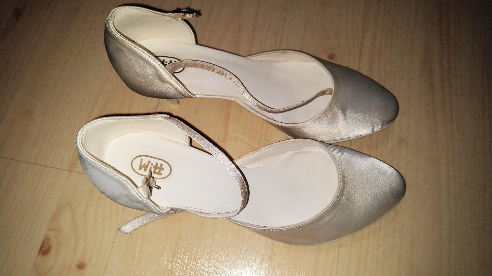 7565abb45a39 Topánky svadobné biele perleť 38 - 39