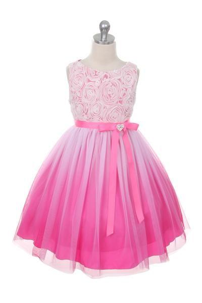 5aa2f15145d Šaty pre družičky ombré ružové