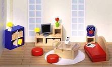 Nábytok do domčeka pre bábiky obývačka,