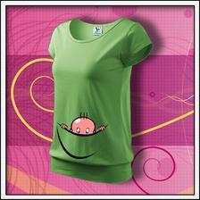 d7f2acccc325 Vtipné tehotenské tričká - hraškovo zelená - Album používateľky ...