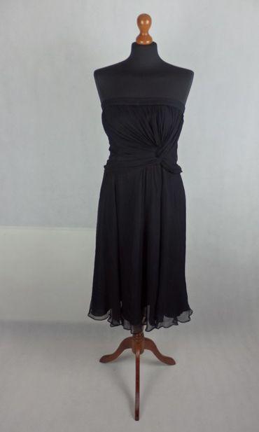 Warehouse čierne hodvábne šaty 8057118800a