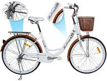 Dámsky bicykel maltrack retro white caffee,