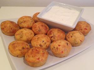 Slané muffiny+cesnakový dresing