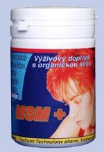Msm+ zlepšuje zdravý stav vlasov,kĺbov a pokožky,