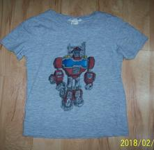 Ručne maľované tričko, rescue bots, h&m,110