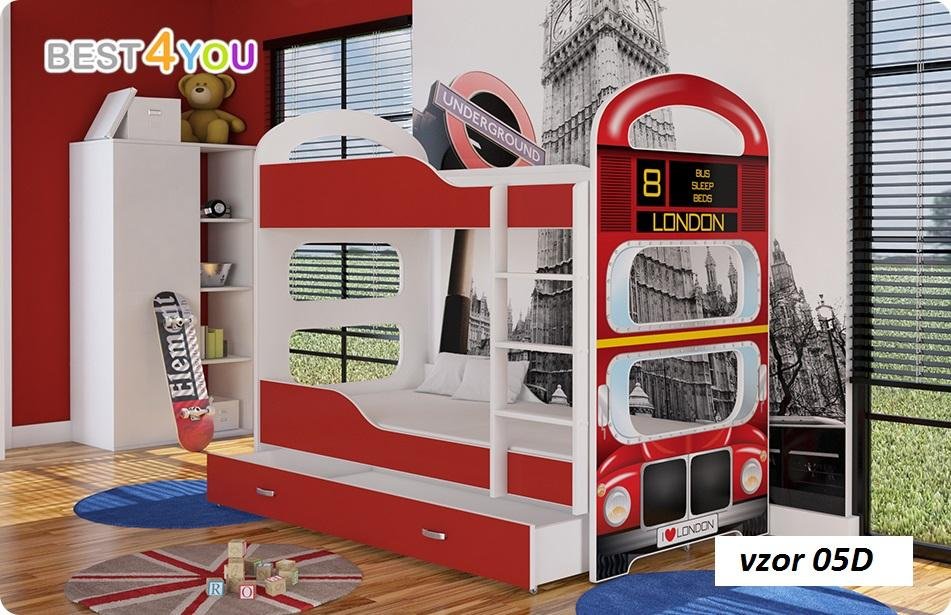 d0a519d72bbe Dominik poschodová posteľ 160x80 autobus
