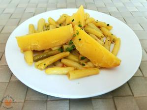1r.+ fazolky s medvědím česnekem a brambory  ( večeře )