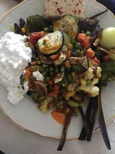 Toto ja môžem 😋 grilovaná zelenina , cottage, chilli tofu a chilli