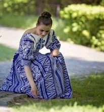 Šaty modrotlač by wurll, 36