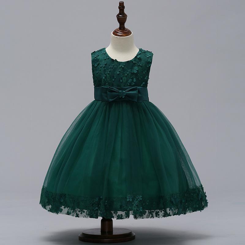 Krásne detské šaty l314 - zelené 7d7d55c9cae