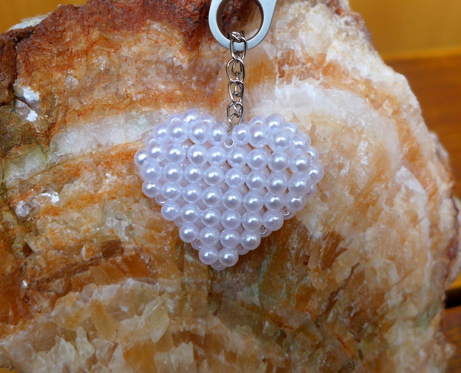 Kľúčenka   prívesok srdiečko originál handmade 990be714de7