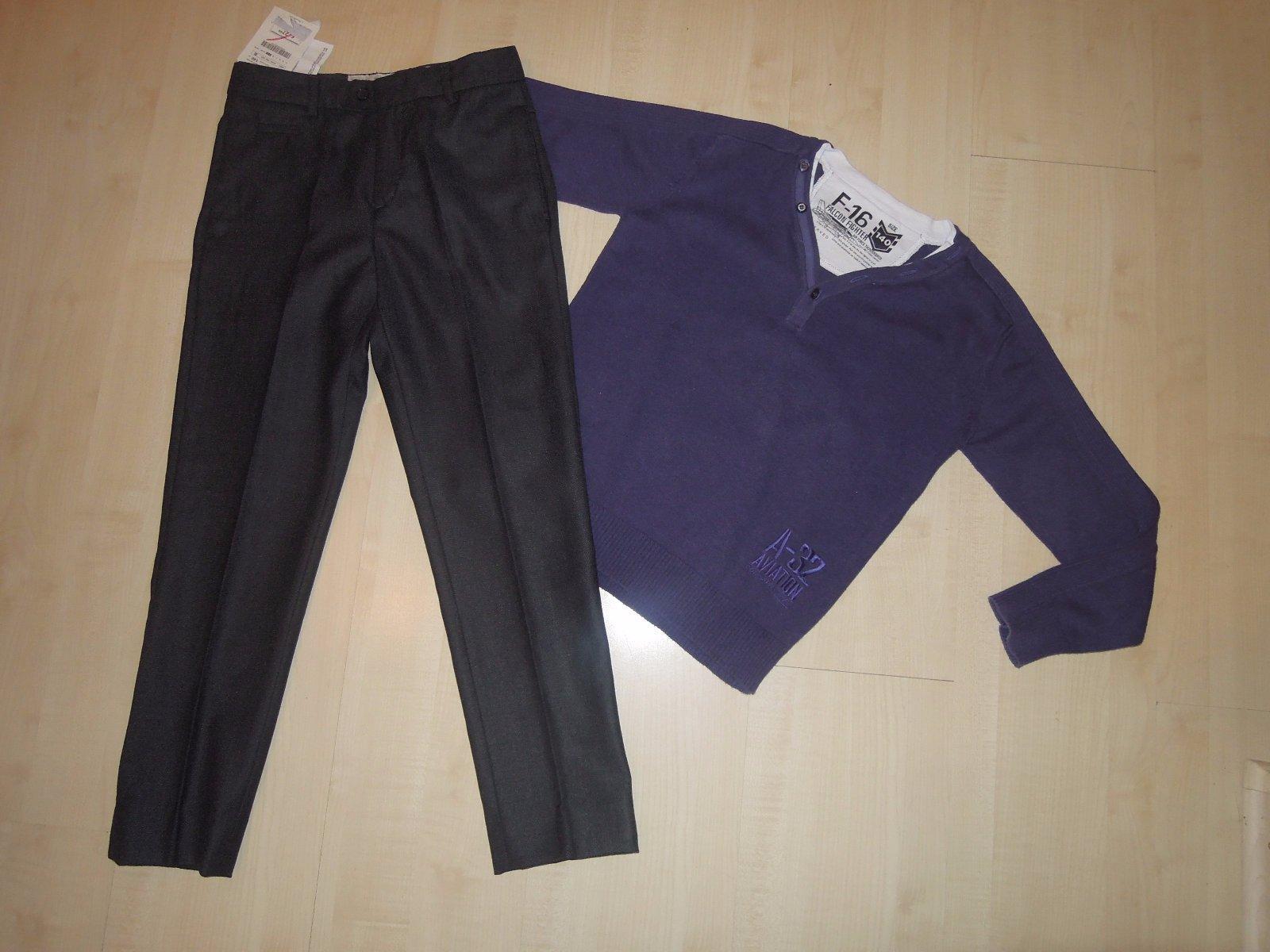 78ce6ff7a6 Elegantné nohavice s visačkou a eleg.svetrík  140