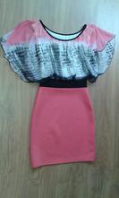Šaty lososovej farby, s