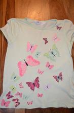 Motýlie tričko, h&m,122