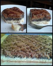 ...obrátený jablkový koláč s makom :)