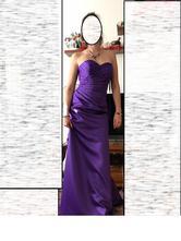 Krásne spoločenské fialové šaty, 38