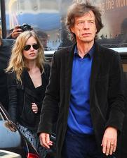 Mick Jagger ( Rolling stones ) - Georgia May ( * 1992 )