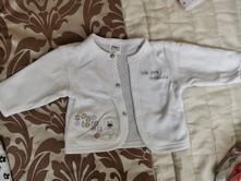 Biely bavlnený svetrik, richelieu,56