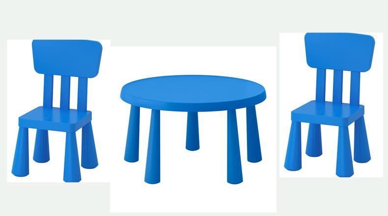 af27f24f155c Modrá sada mammut (stôl + 2x stolička)